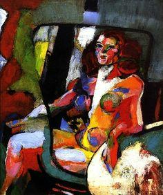 Seated Nude with Red Hair Arthur B. Carles - circa 1931