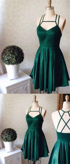 2017 Homecoming Dress Sexy Halter Dark Green Short Prom Dress Party Dress JK177