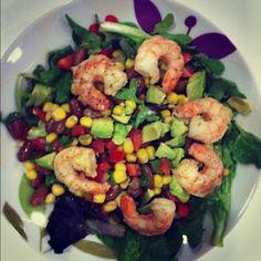 Bean and shrimp salad