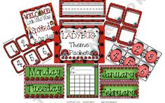 Ladybug Mini Theme product from Ms-Jones-Junction on TeachersNotebook.com