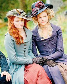 Mistress of all I survey ~ Demelza & Caroline Poldark 2015, Poldark Series, Demelza Poldark, Ross Poldark, Bbc Poldark, Period Costumes, Movie Costumes, Historical Costume, Historical Clothing