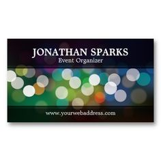 CLICK ON THE LARGER IMAGE TO SEE PRICING INFORMATION - - Abstract Bokeh Design Business Cards