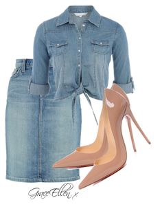 Untitled #77 by miss-grace-ellen on Polyvore featuring polyvore fashion style Current/Elliott Christian Louboutin clothing