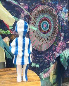 White & blue stripe Clonette Doll www.clonettedolls.com Plastic Doll, Blue Stripes, Recycling, Africa, Traditional, Dolls, Inspiration, Baby Dolls, Biblical Inspiration