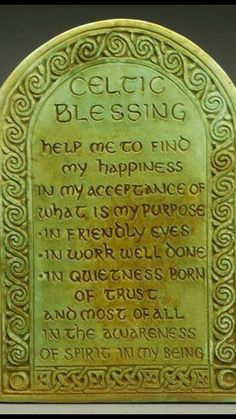 Celtic Blessing Plaque by Midnight Moon. Art for home and garden created in the Celtic Tradition by Ann and Jon Maglinte. Irish Prayer, Irish Blessing, Celtic Prayer, Celtic Symbols, Celtic Art, Celtic Crafts, Celtic Paganism, Celtic Druids, Irish Symbols