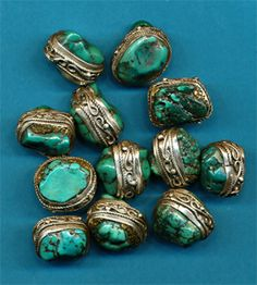 Silver Surrounding Turquoise beads