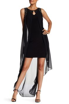 Embellished Popover Sleeveless Dress by Sangria on @HauteLook
