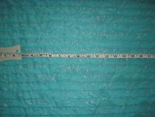5+ YD Sewing FABRIC Stretch Shimmering Mint Teal Blue Green Ruffled 60 wide
