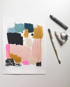 64 New Ideas drawing patterns design mark making Collage Kunst, Collage Art, Collages, Painting Inspiration, Art Inspo, Palette Pastel, Abstract Illustration, Abstract Sketches, Graffiti