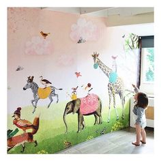 #Mural #kids #kinderbehang | Pimpelmees via Kinderkamerstylist