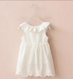Beautiful white lace summer dress
