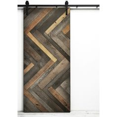 Dogberry Collections Herringbone Solid Core Pine Barn Interior Door (Common: 72-In X 82-In; Actual: 72-In X 82-In) Atg13