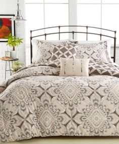 Ella 5-Pc. Comforter Set $79.99 The Ella Comforter Set features a sophisticated, ornate design in neutral hues that reverses to a trellis print and includes matching shams and coordinating decorative pillows for a quick and easy update to your room.