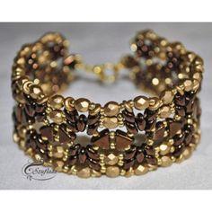 Bracelet The golden chocolate avec Khéops par Puca et SuperDuo