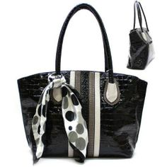 Animal Print & Scarf Purse And Bag / Handbag Black/ Rcht463Blk By Mon Reve Jewelry. $43.99. Purse And Bag / Handbag; Animal Print; Handles 10 Inch; H 12 Inch X W 14 Inch X D 5 1/2 Inch; Scarf. Purse And Bag / Handbag / Paten Polyurethane / Animal Print / Scarf / Zip Top Closure / Back Zip Pocket / Inside One Zip And Two Open Pockets / Handles 10 Inch / H 12 Inch X W 14 Inch X D 5 1/2 Inch