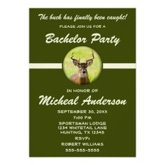 Funny Animal Hunter Bachelor Stag Party Invitation