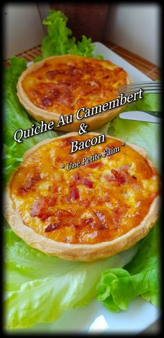 Quiche Au Camembert & Bacon Hello my greedy. On Sundays, I like to make a small, simple meal, without too much work. These camembert and bacon quiches were made for me. Serve with a small vinegar sala Egg Recipes, Gourmet Recipes, Mexican Food Recipes, Salad Recipes, Ethnic Recipes, Quiche Camembert, Bacon Quiche, Bacon Bacon, Liberian Food Recipe