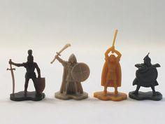 Dark Tower Board Game Warrior Pawns 4 Pieces 1981 Original #MiltonBradley