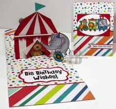 Frances Byrne using the Pop it Ups Barn Pop Stand, Katie Label Pivot Card, Oval and Rectangle die sets by Karen Burniston for Elizabeth Craft Designs. - Karen Burniston May Designer Challenge Day 1