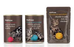 Waitrose Pet food packaging. Designed by Turner Duckworth.