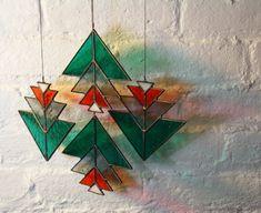 Stacked Triangle Elements set of 4 by BespokeGlassTile on Etsy