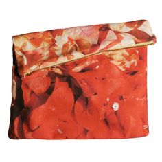 This bag is so beautiful. My design inspiration: Big Zipper Clutch Bogus Floral on Fab.