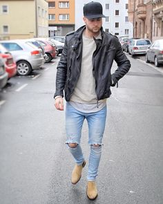 Blazer Fashion, Mens Fashion, Leather Jacket Outfits, Hommes Sexy, Mens Style Guide, Swagg, Jeans, Menswear, Baxter Stockman