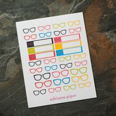 Nerd Glasses for Erin Condren Life Planner, Plum Paper Planner, Filofax, Kikki K, Calendar or Scrapbook by adrianapiper on Etsy