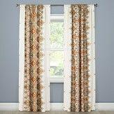 """Mudhut Anya Drape Curtain Panel Orange Multi (55""""x84"""") Mudhut"""