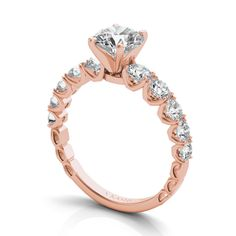 25200 Classic Engagement Rings, Rose Gold Engagement Ring, Or Rose, Fashion Rings, Diamond, Metal, Silver, Jewelry, Weddings