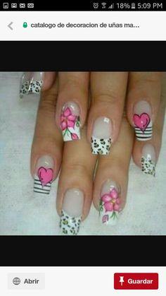 Valentine Nail Art, Holiday Nail Art, Nails Now, Toe Nails, Nine Inch Nails, French Nail Art, Toe Nail Designs, Long Acrylic Nails, Manicure And Pedicure