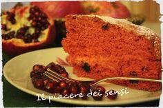Torta con melograno e frutti rossi - torta Marte