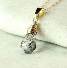 Lepidocrosite  Necklace   Gold Filled    Quartz   by hildes, $38.00