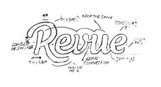Have written a short article about my process of the new Revue custom logotype and couldn& resist to upload it on Behance. Hope it is helpful, enjoy! Graphic Design Typography, Logo Design, Waves Logo, Good Buddy, Short Article, Monogram Logo, Insight, Behance, Writing