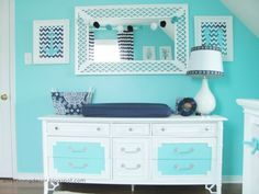Cat - I love how they painted this dresser! Might look cute for the dresser you are painting! :)