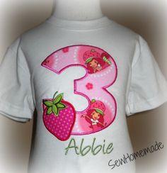 Personalized Strawberry Shortcake Birthday Shirt  by soohomemade, $18.00