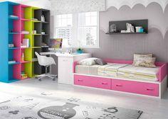 Habitación con compacto bajo y zona estudio