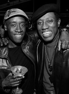 """Don Cheadle and Wesley Snipes - These guys do not have """"American"""" classically good looks -- but sexy is as sexy does. Actors Male, Black Actors, Black Celebrities, Actors & Actresses, Celebs, Wesley Snipes Movies, Black Is Beautiful, Simply Beautiful, Beautiful People"""
