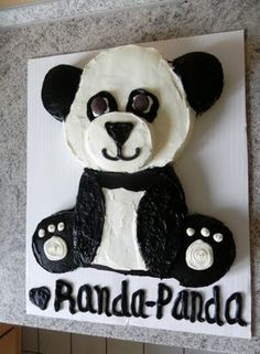 Panda cake I made for daughter <3