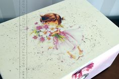 wooden decoupage box for kids