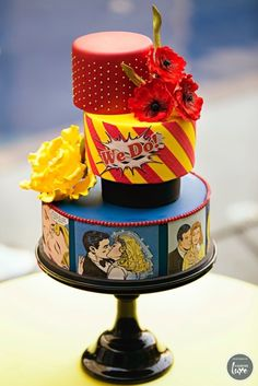 Pop Art Andy Warhol Inspired Wedding Cake Cake Designer: Cake Creations Shoot Designer: Everlasting Impressions Photographer: Leya Russell of Edward Ross Photography