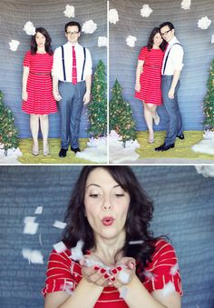 DIY Holiday Photo Backdrop | Lovely Indeed! Must do in near Christmas future;)