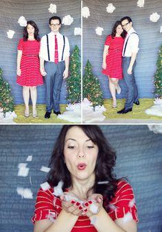 DIY holiday photo backdrop.