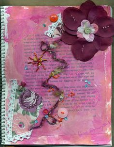 Use old books or notebooks as an art journal or as a scrapbook; this can make a lovely gift.