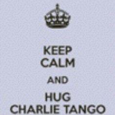 "50 Shades of Grey ""Keep Calm and Hug Charlie Tango"""