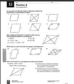 Parallelogram Worksheet #2 Unit Plan, Pinterest Board, Line Chart, Worksheets, Diagram, The Unit, How To Plan, Literacy Centers, Countertops