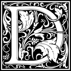 Free Clipart: William Morris Letter D | Symbol | kuba