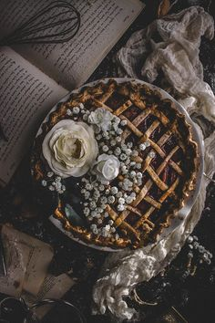 This Balsamic Plum & Pluot Whole Wheat Lattice Pie is the perfect treat on a cool spring day. The crust is warm, flaky, and buttery and baked to a golden brown