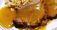Ψητό κατσαρόλας με μέλι και πορτοκάλι !!! Υλικά 1,5 κιλό κρέας μοσχαρίσιο νουά η σπάλα, περασμένο στο δίχτυ ή δεμένο με σπάγκο 1 ... Roast Beef, Recipies, Food And Drink, Cooking Recipes, Meat, Desserts, Macrame, Foods, Recipes