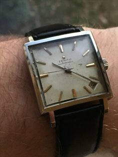 Early 60's Zenith Automatic JFK style square watch
